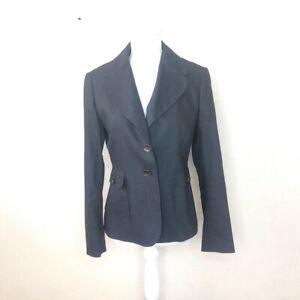 ESCADA Womens Blazer Black Polyester Belted 2 Button Jacket EU 36 US 6 EUC