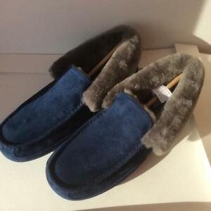 1e5d1117bd0 Details about NEW UGG AUSTRALIA MENS GRANTT NAVY SUEDE  SLIPPERS/LOAFERS/SHOES, SIZE 9