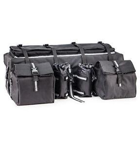 Details About Black Atv Utv Motorcycle Snowmobile Universal Padded Storage Cargo Bag