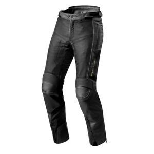 Details about Motorrad Hose Leder Textil Mix Revit Gear 2 versch. Größen schwarz NEU
