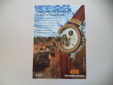 advertising Pubblicità 1992 CAMEL TROPHY WATCH MASTERCHRONO