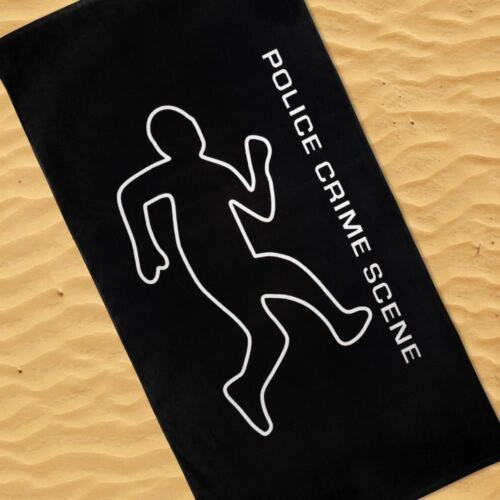 Police Crime Scene vacances serviette de plage 100/% coton