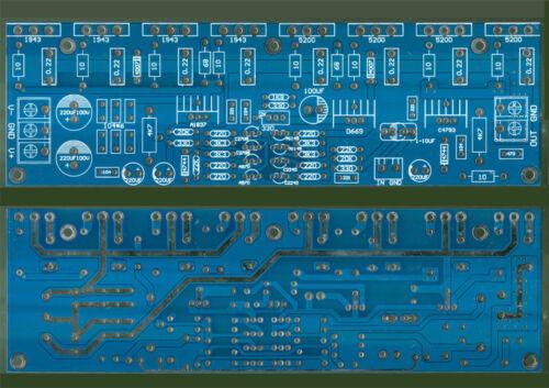 MAX 600W power amplifier board 1943+5200 Bare Board DC±20-±50V Mono 400W