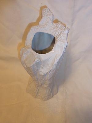 Vintage German White Matt Hutschenreuther Rock Vase #R