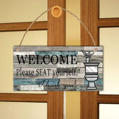 1-Sided Welcome Sign Please Seat Yourself Tub Bar Wall Door  Hanging Plaque