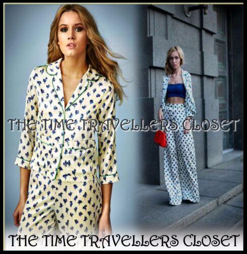 Pyjama Bleu Palazzo Nouveau Ensemble Blouse Floral Pantalon Topshop Uk Moss 6 Crème Kate wzwXI6q