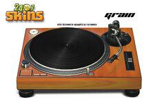 Skin Decal Sticker Wrap for Technics Quartz SL Turntable Pro Audio Mixer GRAIN