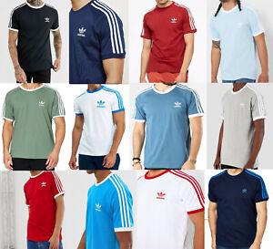 Adidas Originales California Tees Para Hombre Diseño Retro Rayas Trébol Logo S M L XL