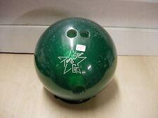 15# GT (Gem Tek) TEN STAR Polyester GREEN Used Nostalgia Clear Bowling Ball