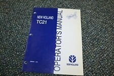 New Holland Tc21 Tractor Operators Manual 698 Free Shipping