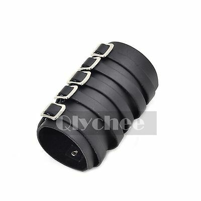 1X 5 Buckles Black Leather Bracer Arm Armor Cuff Punk Gothic Cosplay New Arrival