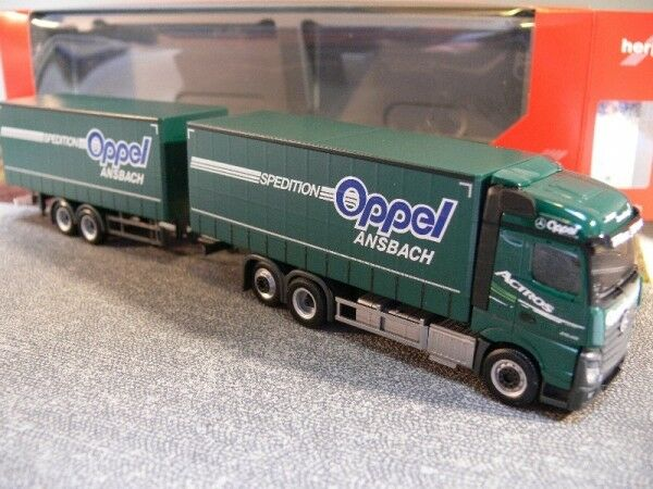 1 87 Herpa MB Actros Streamspace 2.5 OppeI rideaux planifier-HZ 307376
