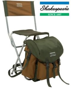 Shakespeare-Deluxe-Rucksack-Folding-Chair-Fishing-Hiking-1154489