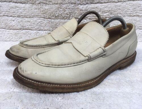 Gucci 260524 Leather Agello White Men's Loafers Si