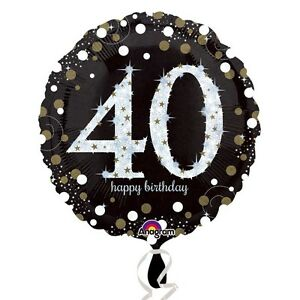 Image Is Loading 40th BIRTHDAY 18 034 Round Foil HELIUM BALLOON