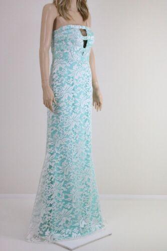 Forever Unique Women/'s Mint Georgia Bandeau Maxi Long Dress in Lace UK SIZE 10