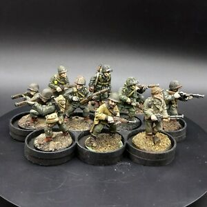 Dipinto 28mm BOLT ACTION ci FANTERIA INVERNALE × 10 SQUADRA #2 Old BOLT ACTION getta
