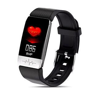 Montre intelligente PPG ECG Pression de l'oxygène sanguin Fréquence cardiaque