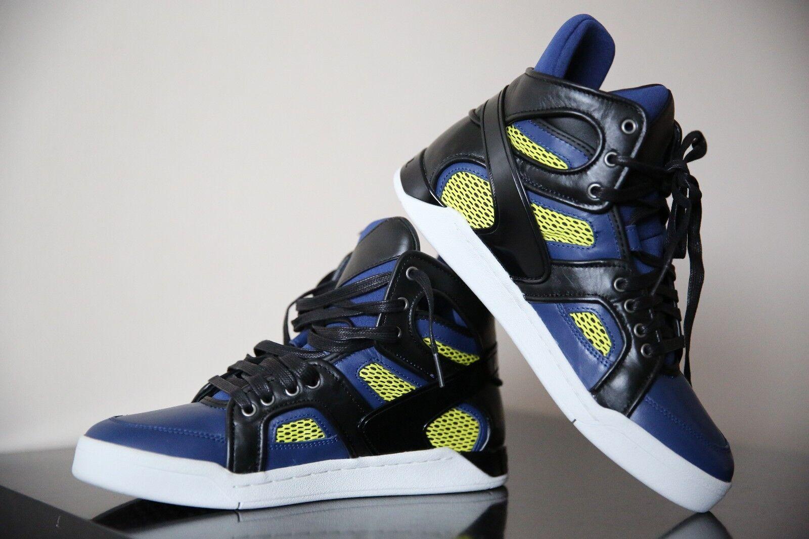 bc808fd70f6 Diesel S-Titann Men bluee bluee bluee Black Yellow shoes Size UK 8 EUR 42  ...