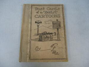 Postcards-Southern-California-Humor-Funny-Tourist-Cartoon-Rare-Antique-Book-1910