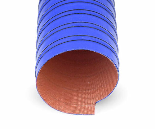"""3.15/"""" Silicone 2 Ply Blue Air Ducting Flexible Duct Cold /& Hot Air 80mm"""