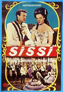 ROMY SCHNEIDER SISSI Filmplakat FINNLAND Helsinki Film 1950er für Aushang RAR !