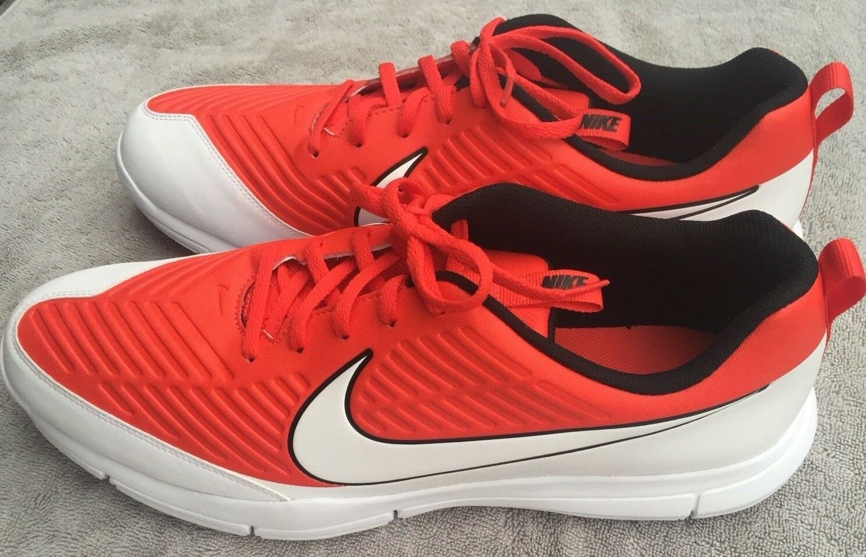 NEW Nike Explorer 2 Golf Shoes Max Orange Black White Size 14 ( 849957-800 )