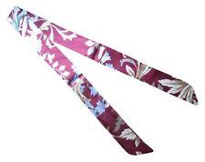 Pink Silk Twilly Scarf~Silk Handbag Tie~100% Silk Tie~Head Wrap~Floral White Red