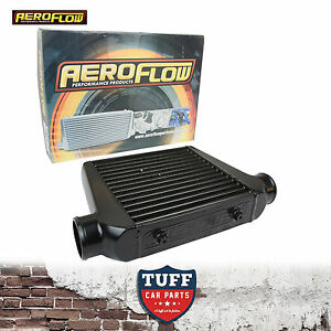 Aeroflow-280x300x76-Alloy-Intercooler-Black-with-3-034-Inlet-Outlet-AF90-1002BLK