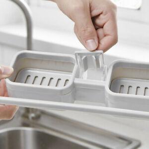 Kitchen Sink Faucet Sponge Soap Storage Organizer Dishcloth Drain Rack Holder B