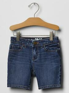 NWT $27 Baby GAP Girls White Denim Bermuda Shorts 12 18 months