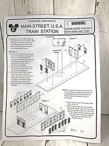 Disney-World-Scale-Main-Street-Train-Station-Replacement-ORIGINAL-Instructions