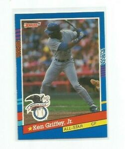 KEN GRIFFEY JR (Seattle Mariners) 1991 DONRUSS AL ALL-STAR CARD #49