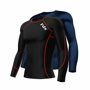 FDX-Mens-Compression-Armour-Base-Layer-Top-Long-Sleeve-Thermal-Gym-Sports-Shirt