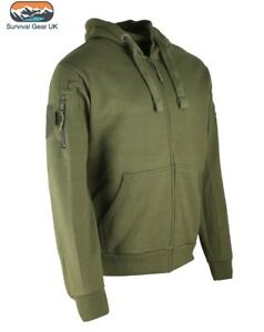 OLIVE GREEN SPEC-OPS HOODIE MENS S-2XL FULL ZIP HEAVYWEIGHT HOODY ID ... afcbe5a01
