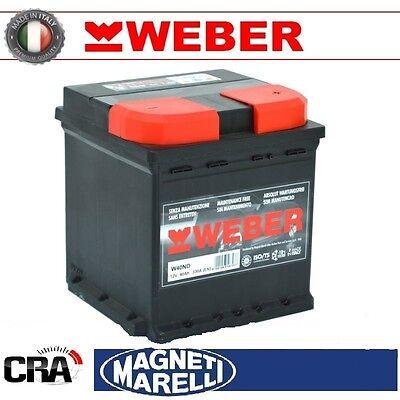 Glorioso Batteria Weber (magneti Marelli) Per Auto W45nd 45ah 12v 360a Pronta All'uso Rafforza Tendini E Ossa