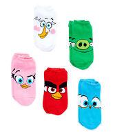 Angry Birds Five(5)-pair Ped Socks Unisex Socks Unisex Size 6-9