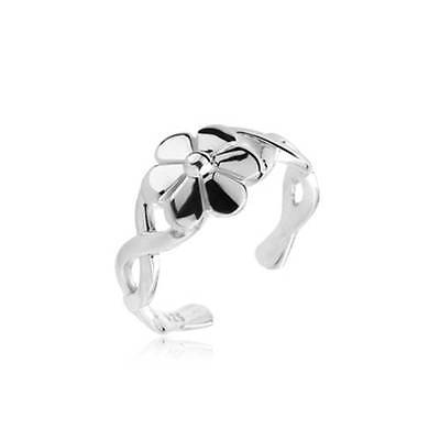 Butterfly Vine Toe Ring Sterling Silver 925 Best Adjustable Jewelry USA Seller