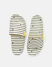 Joules Womens 212077 Sliders - Kharki Bee Stripe