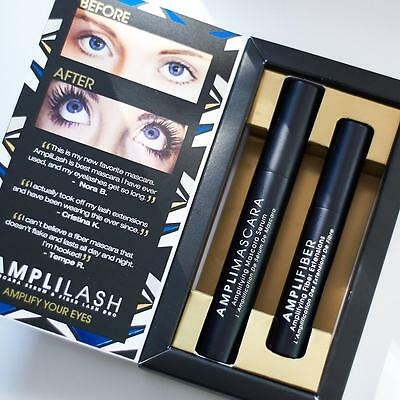 Amplilash Instant Fiber Extension Mascara Serum & Fiber Lash Duo - Made in USA