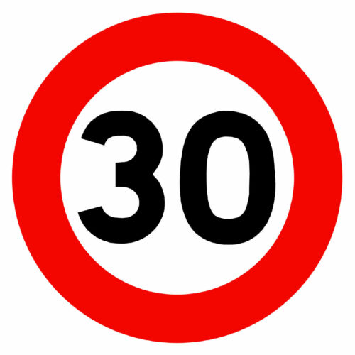 30 MPH SPEED LIMIT ROAD SIGNS -  NOVELTY FRIDGE MAGNET BRAND NEW
