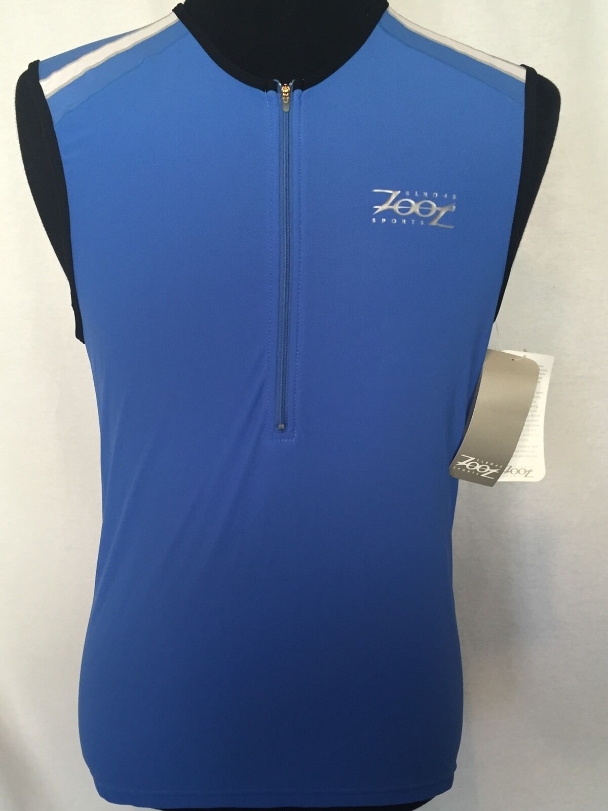 Zoot Cycling Vest Mens Large L bluee White New With Tags