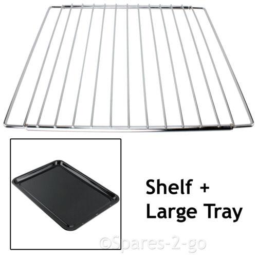 DIPLOMAT Adjustable Chrome Oven Cooker Grill Shelf /& Large Enamel Baking Tray