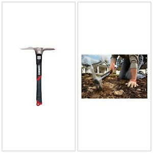 Mini Mattock Integrated Fin Garden Tool Digging Fiberglass Handle 1.5 lb.