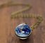 Solar-System-Pendants-Necklace-Galaxy-Planet-Necklace-S-Double-Sided-Glass-Dome thumbnail 31