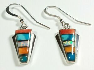 925-STERLING-SMALL-SPINY-OYSTER-OPAL-TURQUOISE-1-3-8-034-x-1-2-034-HOOK-EARRINGS