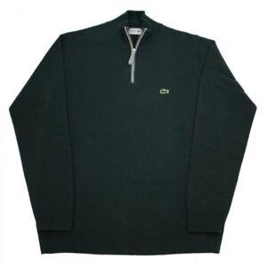 e009ec8f050 Green Wool T9 £130 Zip Bnwt Lacoste 4xl Rrp 100 Jumper Ah2988 Neck ...