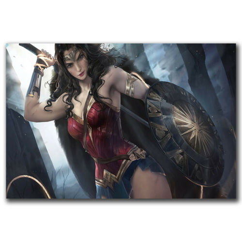 DC Movie Wonder Woman Gal Gadot Comic Film Art 12x18 24x36in FABRIC Poster N3374