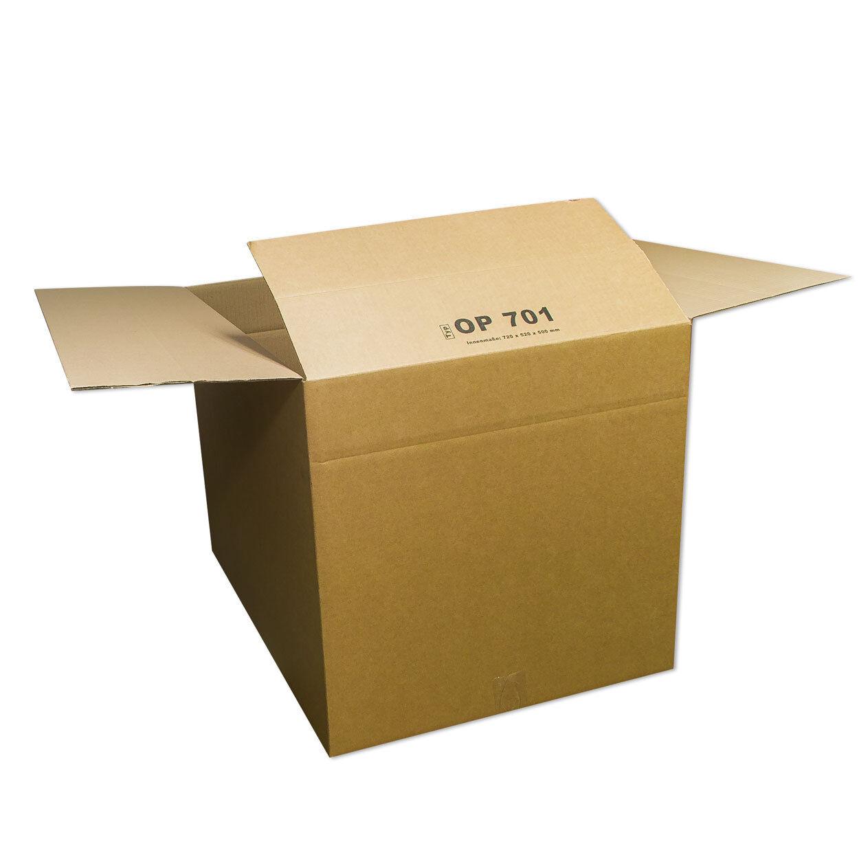 10 Kartons 500x500x500mm Faltkarton Paket Verpackungskarton Post Schachtel