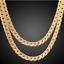18k-Gold-Kette-vergoldet-Halskette-Panzerkette-Schmuck-Herren-Maenner-Edelstahl Indexbild 1